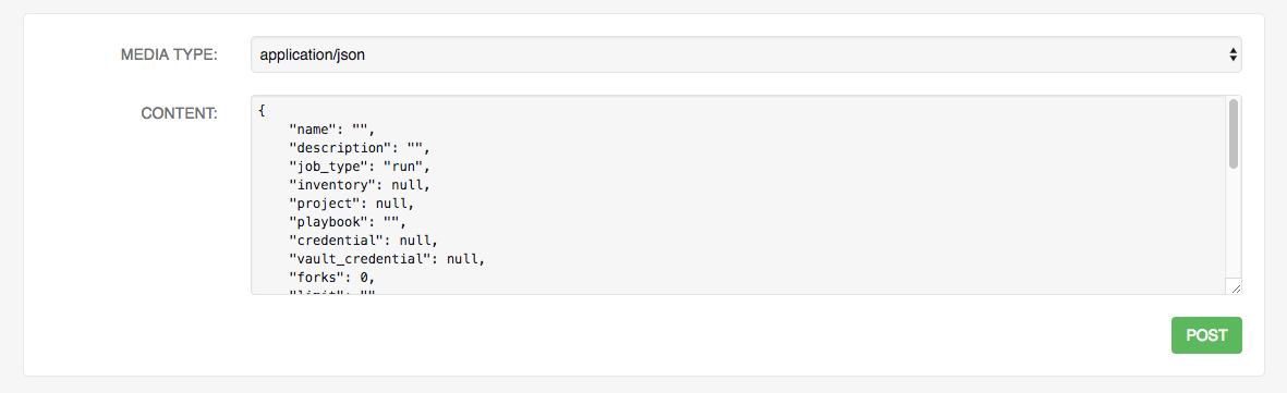 REST API - POST to API via form